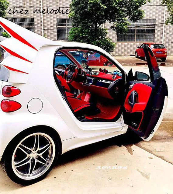 Devil Style Abs Sports Car Rear Spoiler Wings For Benz Smart 2009
