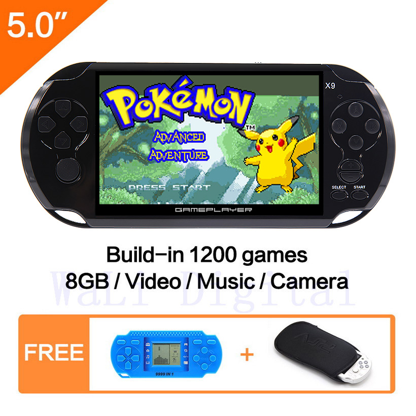 5 Inch Screen 8G Handheld New Video Game Console Built in 1200 Games for gba gb