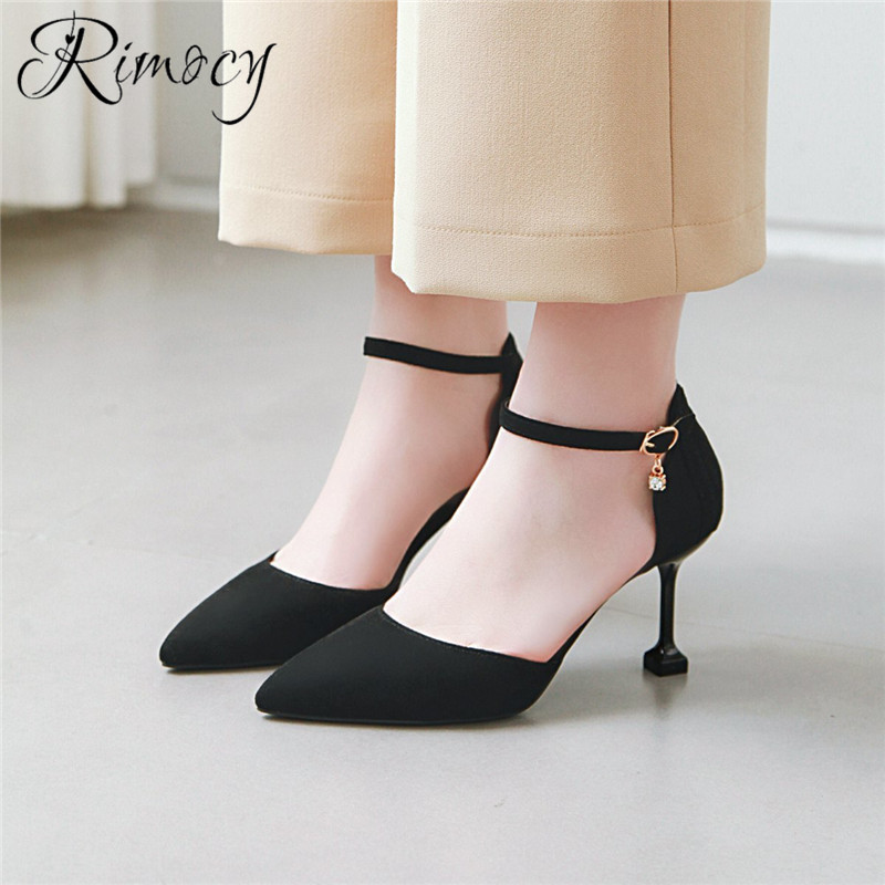 53c79cf40d59 Rimocy sexy high heels pointed toe pumps mujer 2019 fashion party shoes  woman stiletto heels women