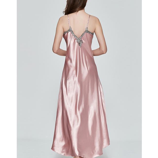 Ladies Women Oversize Satin Long Nightdress Silk Lace Sexy Lingerie Nightgown Sleepwear Sleepshirts