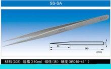 Original 50 UNIDS SS-SA Precisión Ultra Anti-Ácido de Acero Inoxidable Recta Pinzas Pinzas para la Tableta Del Teléfono Móvil de Reparación de PC herramientas