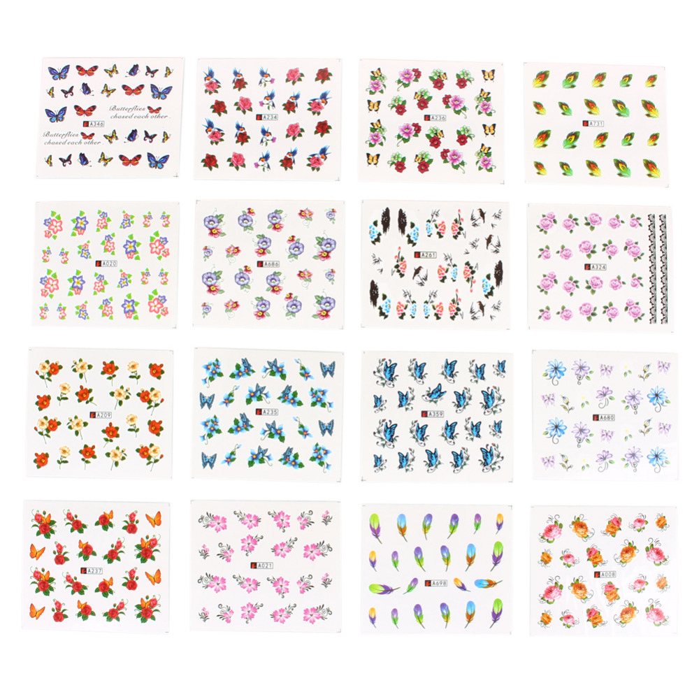 Nail Stickers Decals Art Tips Decoration Manicure Stickers Ongles ...