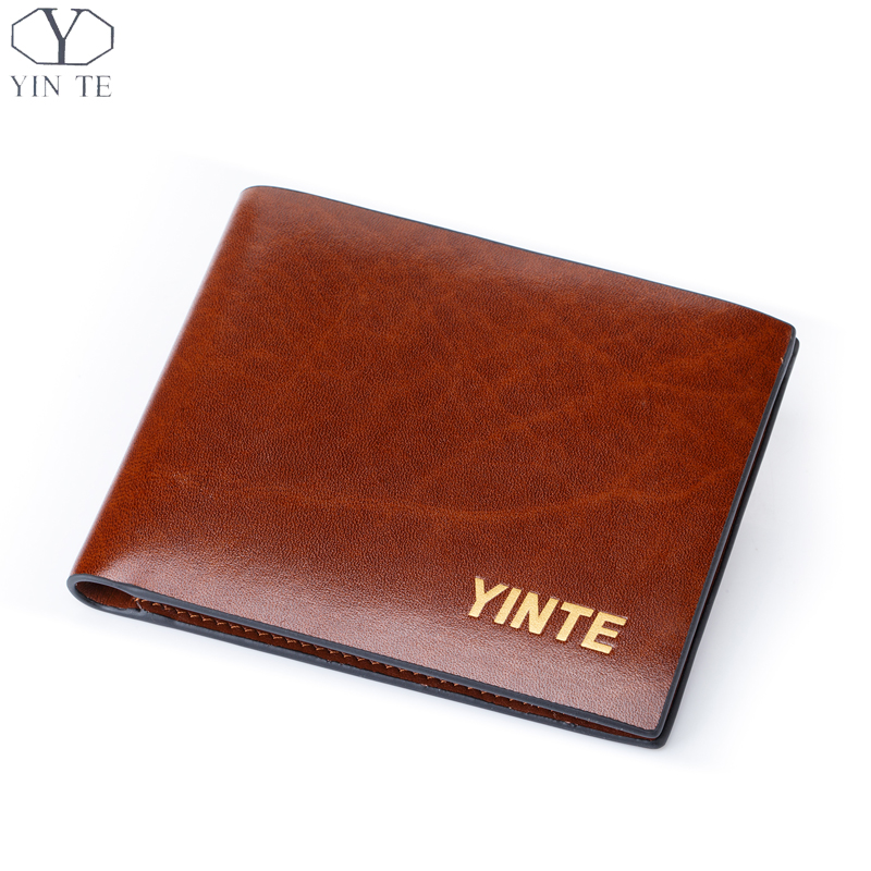 ФОТО YINTE Free Shipping Men's Wallet Top Leather Business Purse Fashion New Design Leather Card Holder Pocket Purse Portfolio T830C