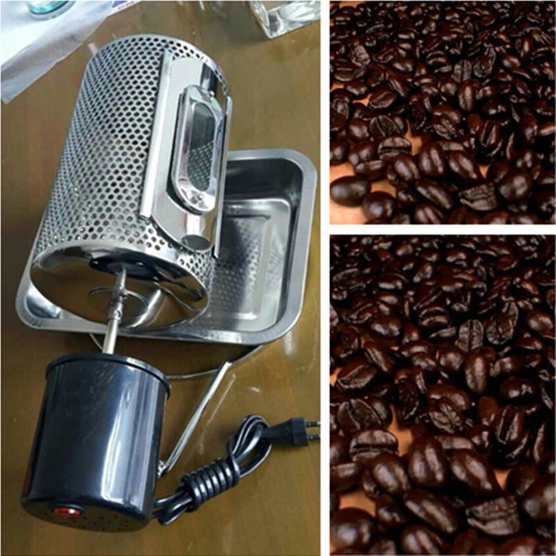 DIY coffee roaster coffee bean baking machine peanut roasting machines ZF coffee bean baking machine mini drum type home use peanut roasting machines cashew chestnut small roaster zf