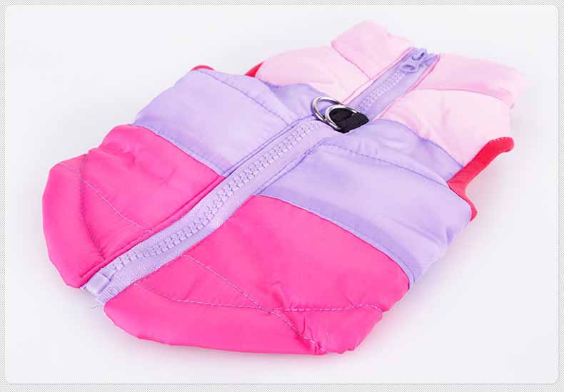 Popular Color Blocking Pet Apparel Dog Clothes Winter Puppy Dogs Vest Cotton-padded Jacket Coat for Chihuahua Teddy Poodle5