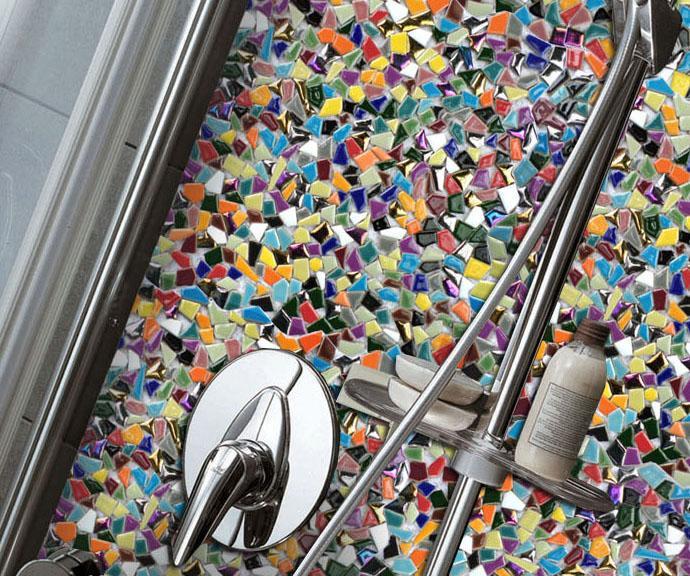 Arco iris colorido mosaico de ceramc de forma irregular de siete - Decoración del hogar - foto 4