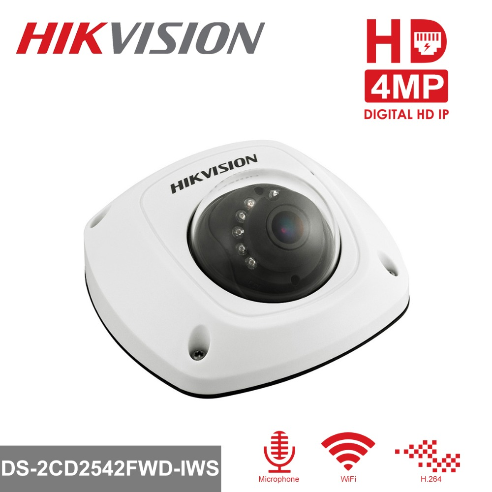 HiKVISION 1080P Wireless IP Camera WiFi DS-2CD2542FWD-IWS 4MP Mini Dome Security IP Camera Built-in SD Card Slot & Audio ip камера hikvision ds 2cd2542fwd iws 4mm