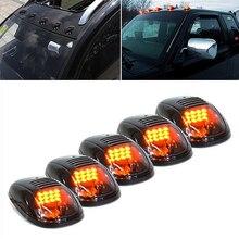 5 adet 12 LED araç Cab çatı işaretleyici işıklar kamyon SUV için LED DC 12V siyah füme Lens lamba araba dış işıklar