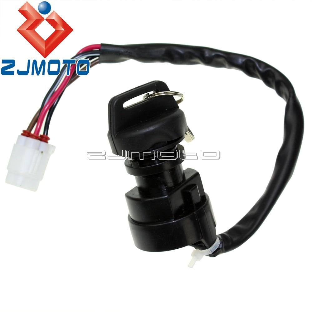 Zjmoto Ignition Key Switch For Yamaha Yfm 400 Kodiak Wiring 2wd 4wd Atv 2003 2004 2005 2006 In Safety Breakdown Assistance From Automobiles