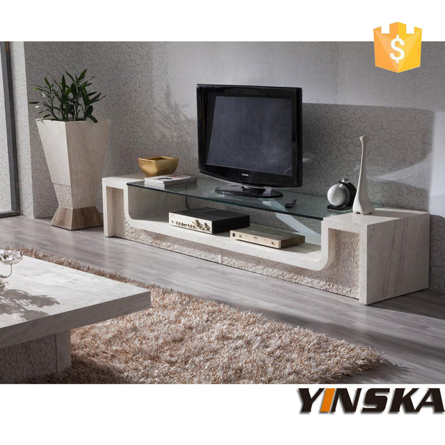 Glass top marble tv stand, stone tv cabinet for sale-in TV Stands ...