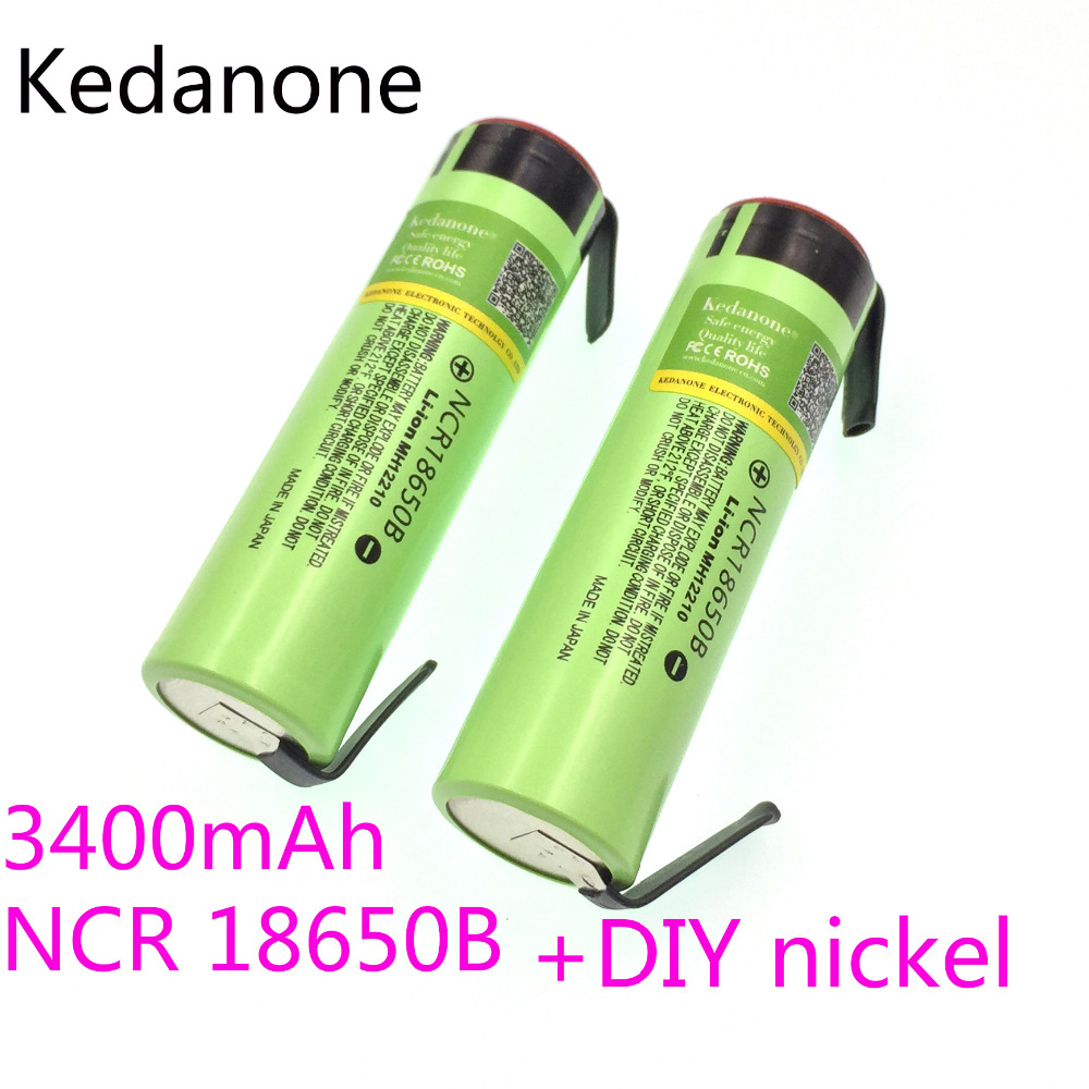 New Original <font><b>NCR18650B</b></font> 3.7V 3400 mAh <font><b>18650</b></font> Rechargeable Lithium Battery Suitable for Panasonic Flashlight + DIY Nickel Film image