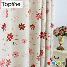 Topfinel Luxury Modern Floral Shade Blackout Curtains for Living Room Bedroom Kitchen Kids Room Window curtain set blinds drapes(China)