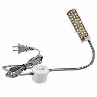 Brillante 30 granos de la lámpara ropa, costura máquina luz lámpara con luz de trabajo accesorios para máquinas de coser de escritorio de la tabla de la Lámpara de trabajo