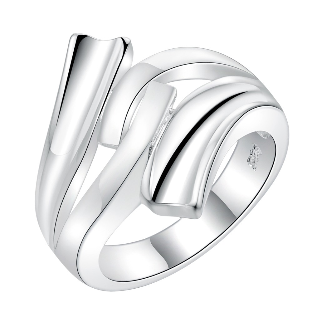 AR225 Hot Selling silver plated finger Rings for women men silver - Mote smykker - Bilde 1