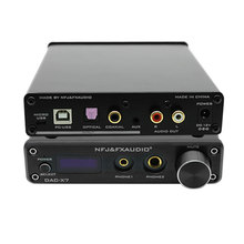 Fx-audio DAC-X7 XMOS AK4490EQ Decodificador USB DAC HiFi Audio auriculares amplificador DSD256 OPA2604 TPA6120 USB/óptico/Coaxial/AUX In(China)