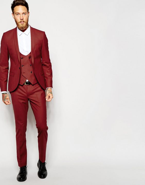 Popular Red Double Breasted Suit-Buy Cheap Red Double Breasted ...