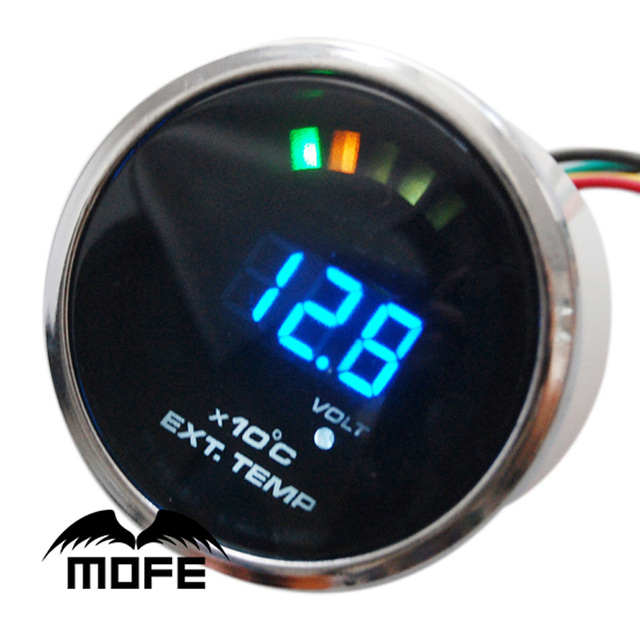 "MOFE Original Logo 20PCS Analog LED 2"" 52mm EGT Exhaust Gas Temp Gauge Meter Stepper Motor With Sensor"