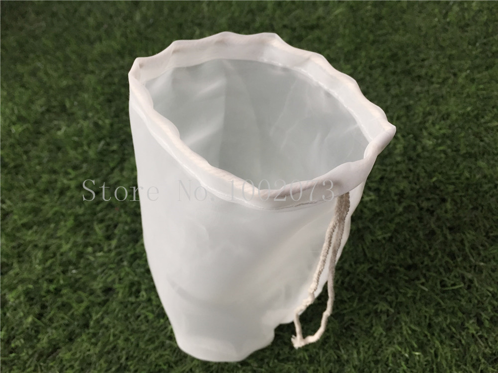 Free Shiping 30 45cm Large food grade Nylon filter bag for home brew beer rice wine juice soybean milk tea Coffee Filter Bag in Colanders Strainers from Home Garden