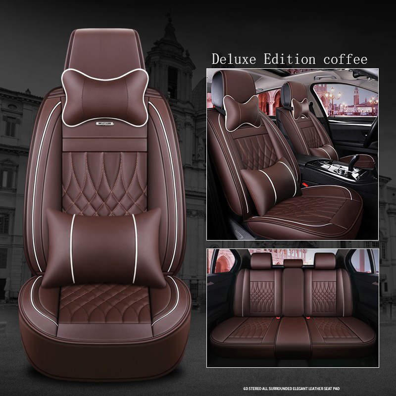 WLMWL Universal Leather Car seat cover for Honda all models CRV XRV Odyssey city crosstour civic crider vezel fit accord