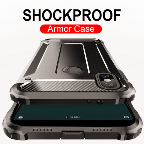 Luxury Armor Full Shockproof Soft Case For Xiaomi Redmi 7 5 Plus 5A Note 6 Pro 6A Shockproof Back Cases For Pocophone F1 Cover Lahore