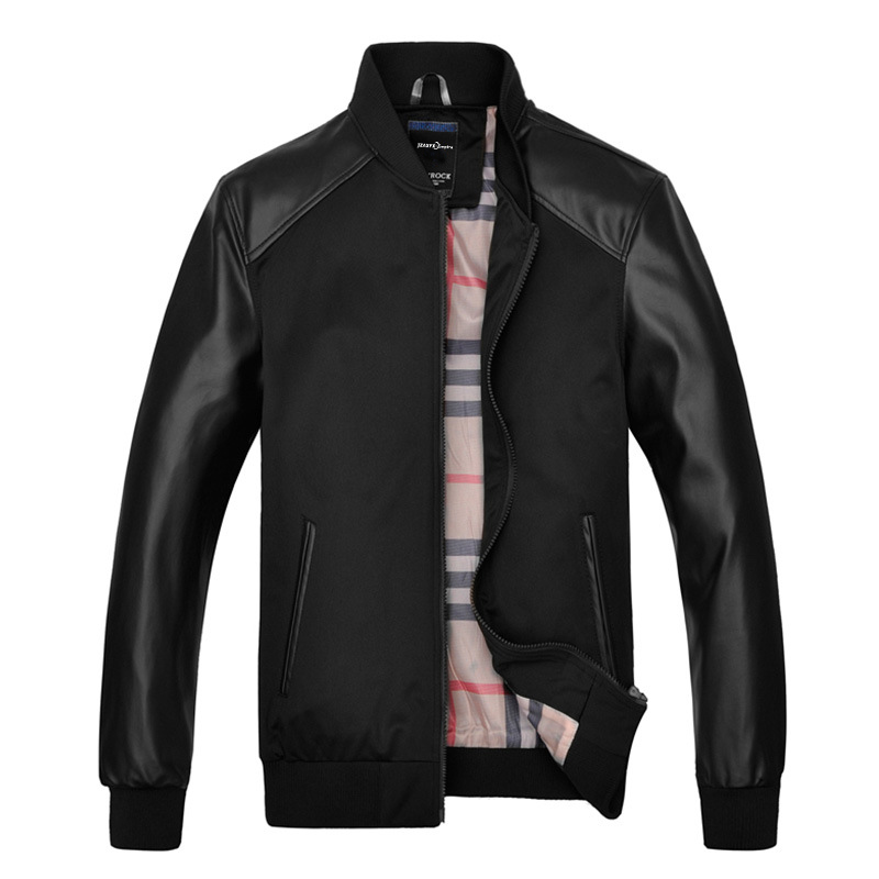 Designer Leather Bomber Jacket Promotion-Shop for Promotional ...