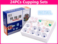 Retail 24pcs Vacuum Magnetic Cupping Sets Home Care Medical Thickened Apparatus Traditional Chinese Medicine Medical Therapy