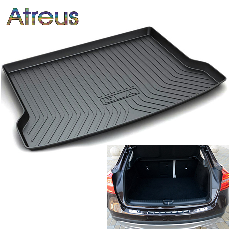 Atreus Car Rear Trunk Floor Mat Durable Carpet For Mercedes Benz GLA class X156 2014-2018 Boot Liner Tray Anti-slip mat car trunk mat cargo liner rear boot mat custom fit for mercedes benz e class w213 gla gla200 gla220 gla45 amg glc coupe