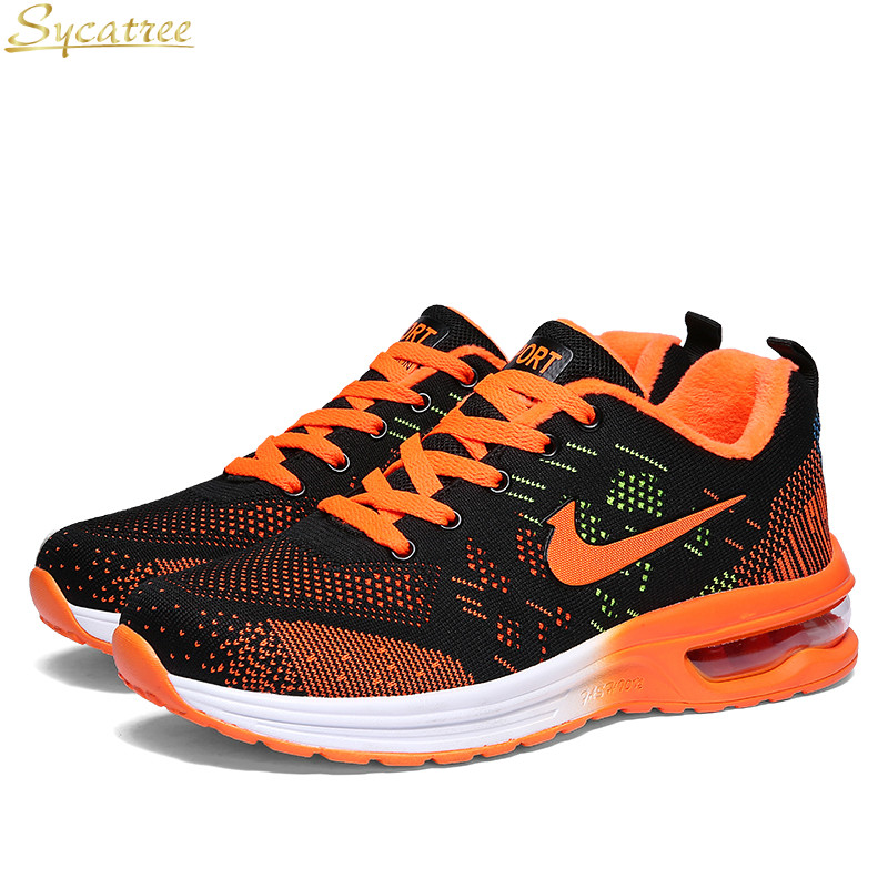 Sycatree Men s Running Shoes Sport Male Air Cushion Sneakers Men Comfortable Outdoor Walking ShoesBreathable Mesh