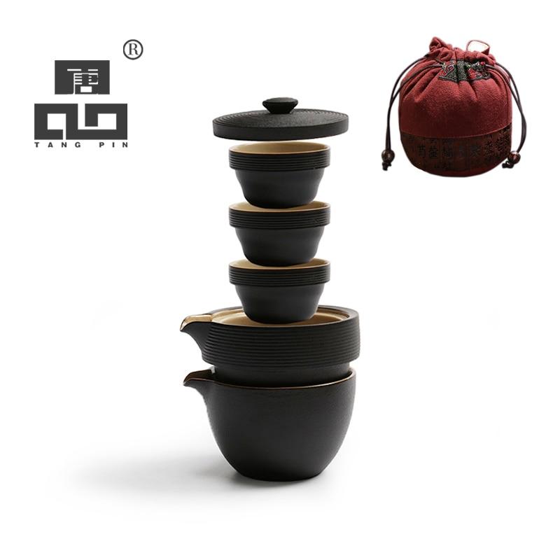 TANGPIN japonais théière en céramique bouilloire gaiwan thé tasses portable voyage bureau thé