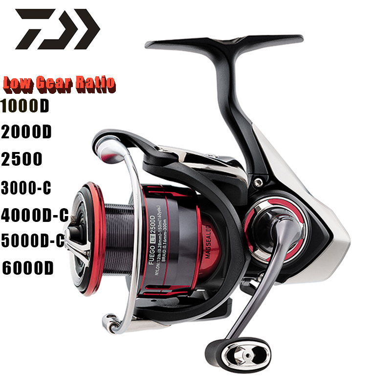 DAIWA FUEGO LT Original 1000D 2000D 2500 3000C 4000DC 5000DC 6000D Low Gear Ratio Spinning Fishing Wheel(China)
