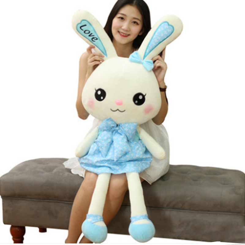 Fancytrader Plush Animals Bunny Toy Big Giant Stuffed Rabbit Doll 90cm Best Gifts for Children fancytrader giant soft bunny plush toy big anime stuffed rabbit toys doll pink blue 110cm for children birthday christmas gifts