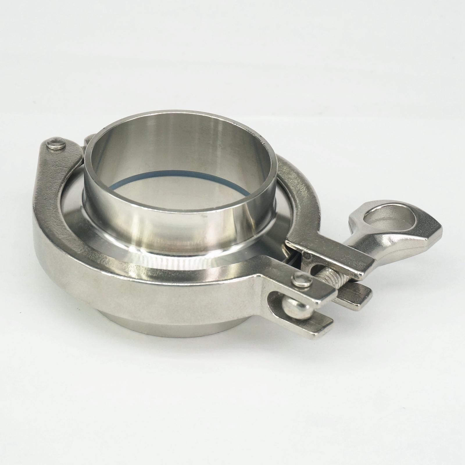 A Set 57mm O/D Sanitary Tri Clamp Weld Ferrule + 2.5