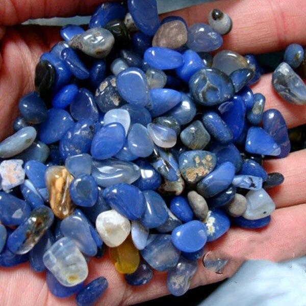 7ecb1ca43b0 Tombado Pedra Preciosa de Cristal de Ágata Azul Do Laço 5g em Pedras ...