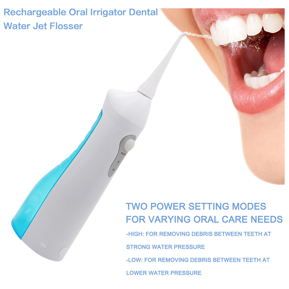 Professional Rechargeable Oral Irrigator Water Flosser Irrigation Dental Floss Family Whitening Cleaning Mouth Denture Cleaner plant irrigation system water dispenser syringe irrigation kit 25 meters