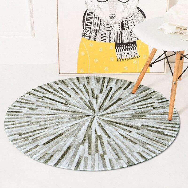 Nice Rug for Kids Round Carpet for Bedroom Soft Velvet Floor Mat Computer Chair Pad Anti Slip Hallway Rug Mat Kids Round Rug Mat