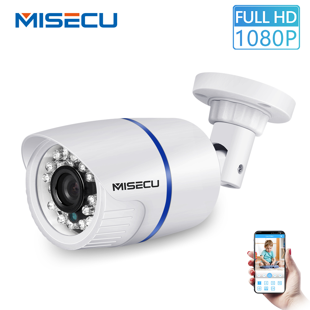 MISECU H.265 Outdoor IP Camera PoE 1080P ABS Case  Email Alert XMEye ONVIF P2P Motion Detection RTSP Surveillance CCTV Security