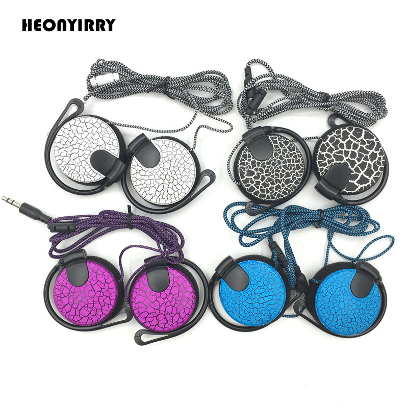 Sports Crack Headphones 3.5mm EarHook Stereo Headset HiFi Bass Earphones For Ipod Mp3 Player Computer Mobile Telephone Earphone