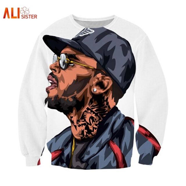 Alisister Harajuku Style Chris Brown Cartoon Character Sweatshirt Jumper Sweatshirt 3d Cartoon Hoodies Pullovers Outerwear