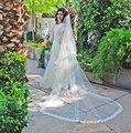 2016 3 Meters One Layer Lace Edge Cathedral Wedding Accessories Wedding Dress Bridal Veil Velos De Novia