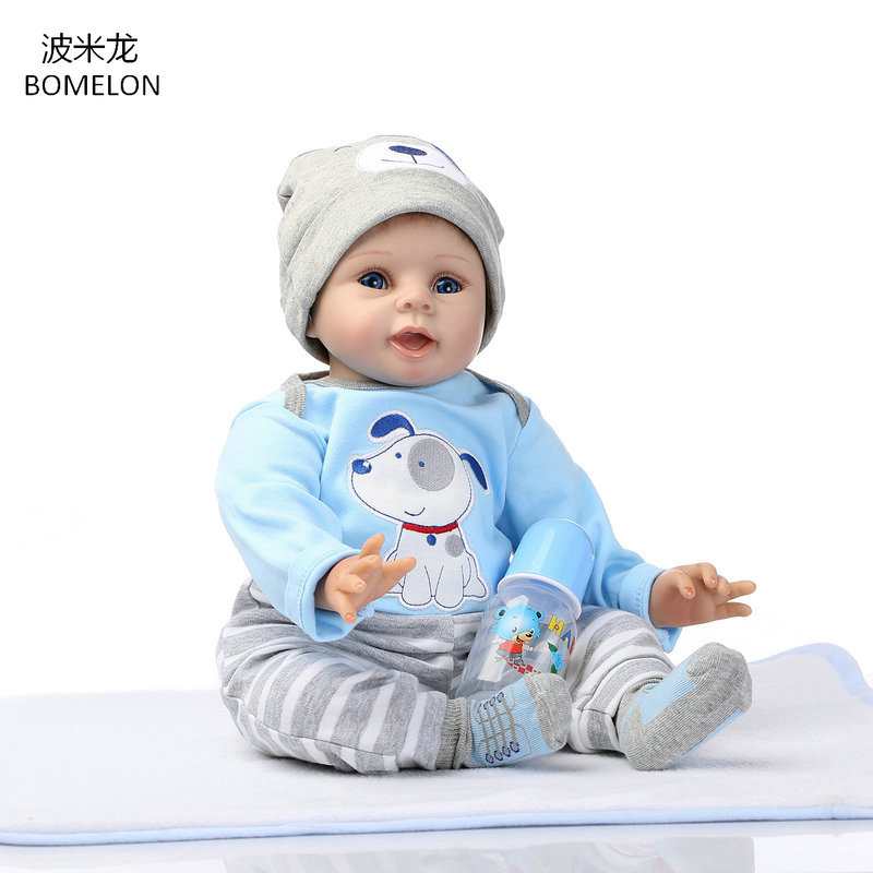 52CM Reborn Doll Alive Baby Boy Doll Soft Cloth Body 22 inch Brinquedos Kids Toy Birthday Christmas Gift for Girls Photo Model 6pcs set kawaii baby kt cat kids toys birthday christmas gift cartoon diy hello kitty doll model action toy figures n057