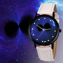 Unique Solar System Watch Space Black Hole Planets Astronomy Unisex Classy Casual Quartz Leather Strap Analog Watches Montre