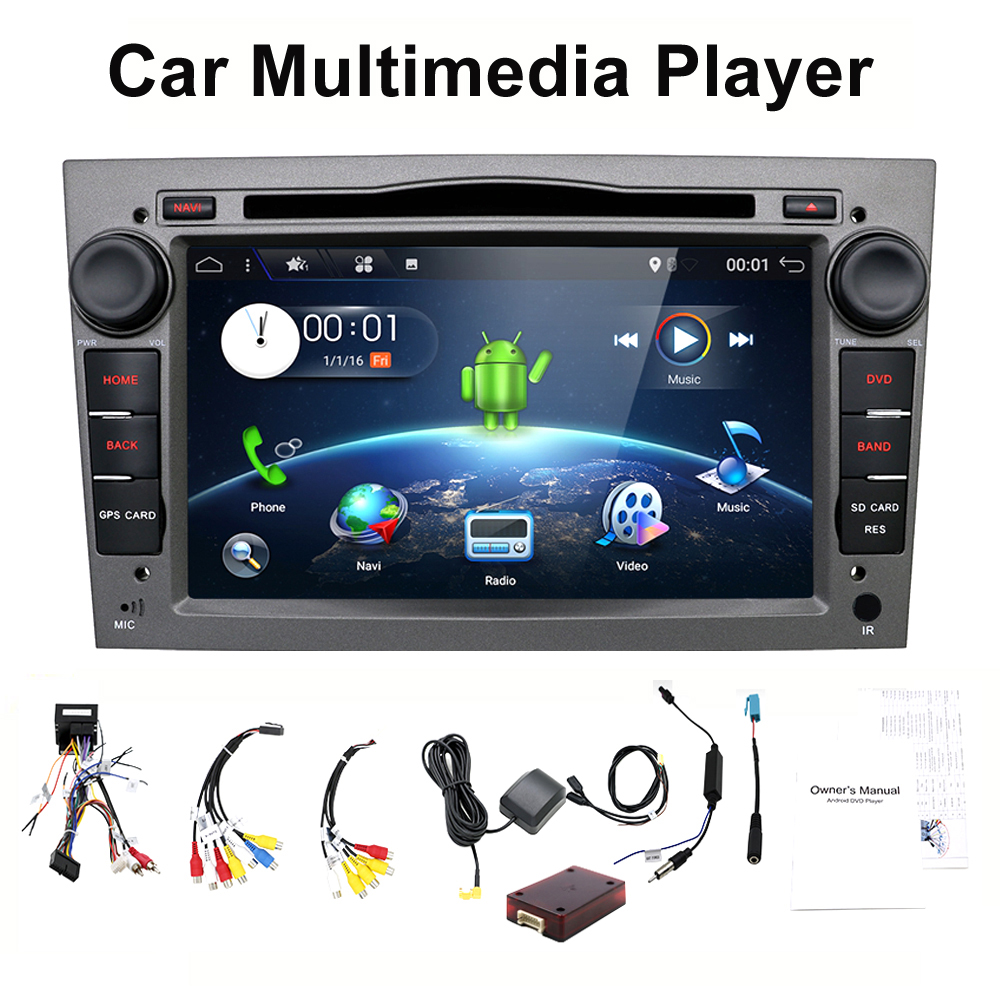 HD 1024*600 Quad Core Android 7.1 Car tape recorder GPS DVD Player For Opel Astra H Vectra Corsa Zafira B C G support OBD2 android 8 0 2 din radio car dvd player for opel vectra c b corsa d c multimedia zafira b k astra h g j navigationmeriva gps wifi