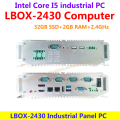 LBOX-2430 Intel Core I5 2.4GHz 32GB SSD 2GB RAM Industrial Panel Computer 6 RS232 low power high performance(LBOX-2430)