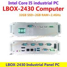 Intel Core I5 2.4 ГГц LBOX-2430 32 ГБ SSD 2 ГБ RAM Промышленный Панельный Компьютер 6 RS232 низкого энергопотребления и высокой производительности (LBOX-2430)