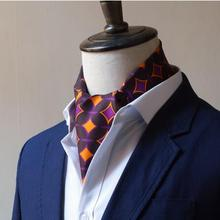 Весна и лето Шелковый мужской шелковый шарф мужской костюм, воротник рубашки шелковый шарф длинный подарочная коробка