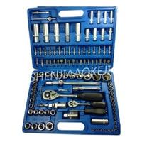 108 pcs/set sleeve set tool Combination tool socket wrench chrome vanadium steel Auto car repair tool
