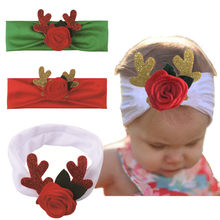Kids Baby Headbands Toddler Infant Baby Headband Boys Girls Elastic Bands Headwear Child Christmas Hair Accessoriest 1030(China)