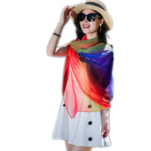 emulation silk scarves seaside travel is prevented bask in large size beach towel gift scarf