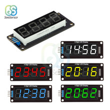 "TM1637 0.56 ""4-Digit Orologio Digitale Display A LED Da 0.56 Pollici Tubo di 7 Segmenti LED Orologio Doppio Dots Modulo per Arduino(China)"