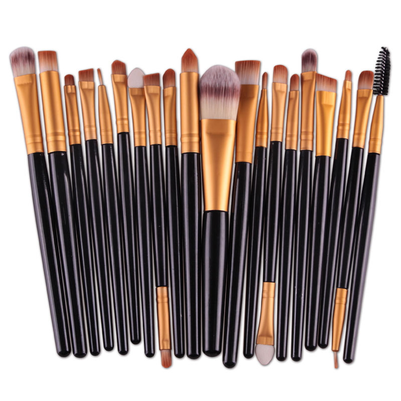 20pcs Eyes Brushes Set Eyeshadow Eyebrow Eyelashes Eyeliner Lip Makeup Brush Sponge Smudge Brush Cosmetic pincel maquiagem (11)